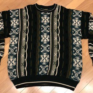 Vintage Le Tigre Coogi Style Knit Pattern Sweater